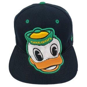 Oregon Ducks Zephyr Black Snapback Baseball Hat